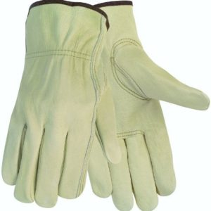 MCR Safety 3215L Economy Grade Unlined Cow Grain Leather Driver Men's Gloves with Keystone Thumb