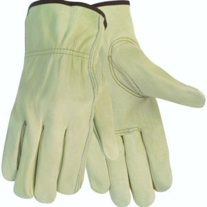 MCR Safety 3215M Economy Grade Unlined Cow Grain Leather Driver Men's Gloves with Keystone Thumb
