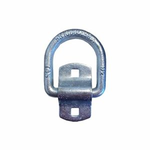 Tie 4 Safe 1/2 Inch Bolt On Lashing D-Ring with Cap - Pack of 8