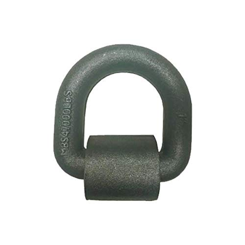 Tie 4 Safe 1/2 Inch Weld On Lashing D-Ring with Cap - Pack of 4