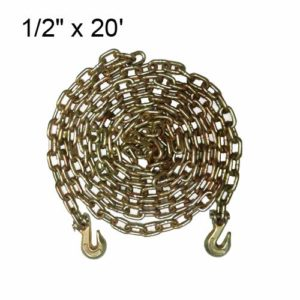 Tie 4 Safe 1/2 Inch x 20 Foot Transport Chain - Pack of 1