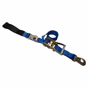 Tie 4 Safe 2 Inch x 8 Foot Blue Combo Ratchet & Axle Strap with D Ring & Adjustable Axle Strap - Pack of 4